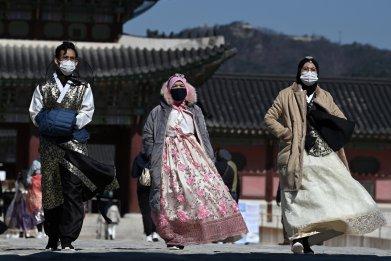 Gyeongbokgung palace, Seoul, South Korea, Feb 2020