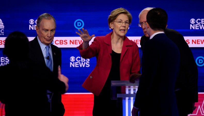 Elizabeth Warren and Michael Bloomberg