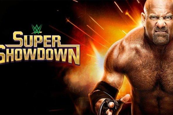 wwe super showdown 2020 goldberg poster