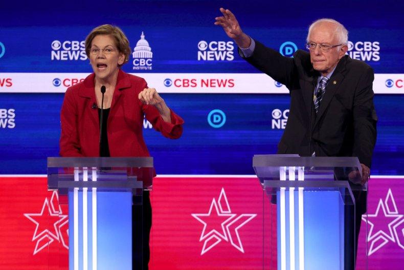 Sen. Elizabeth Warren and Bernie Sanders