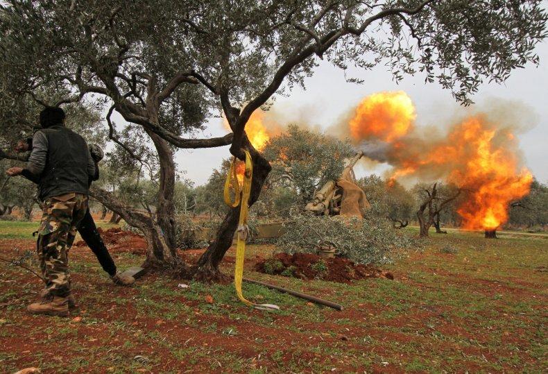 syria, rebels, idlib, turkey, war, artillery