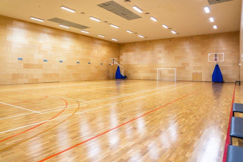 Empty School Gymnasium