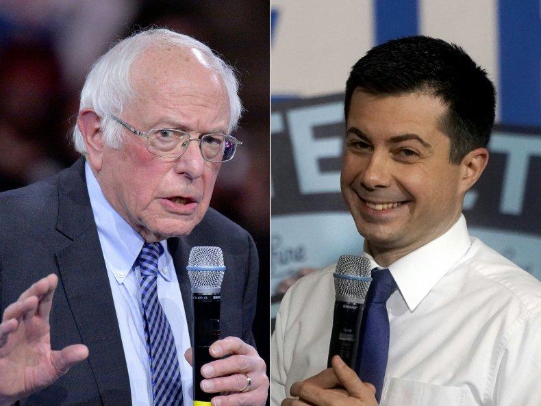 Bernie Sanders, Pete Buttigieg