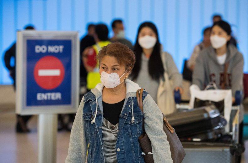 LAX airport California face masks February 29,2020