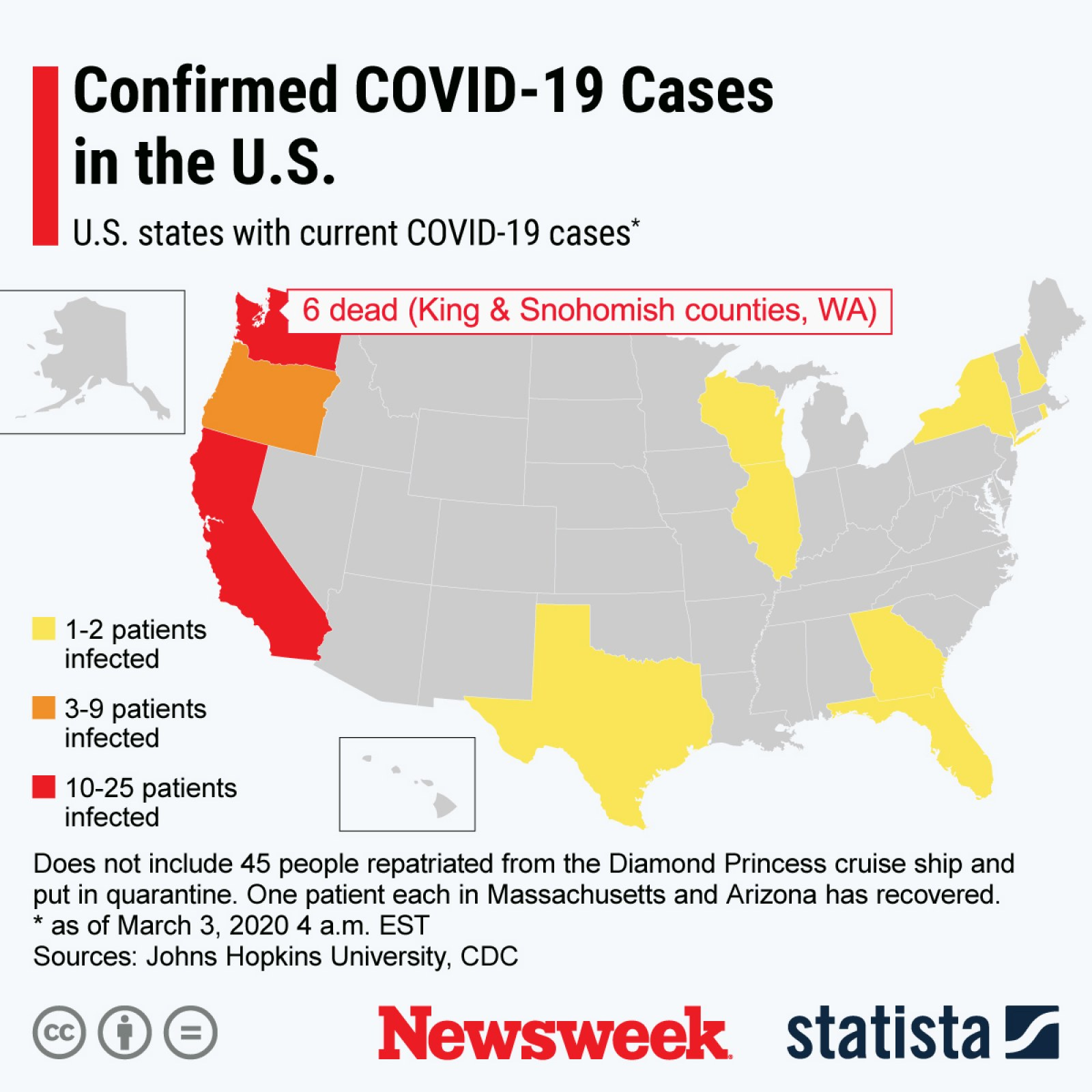 coronavirus number of cases in us