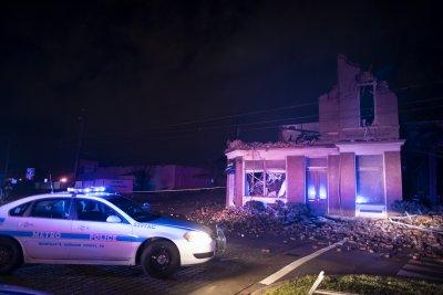 Damaged business after Nashville tornado