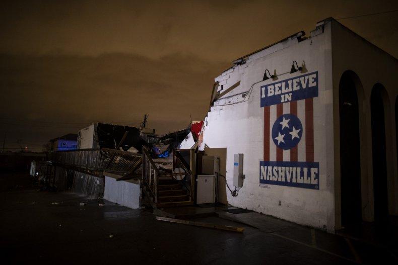 Building Damaged by Nashville Tornado