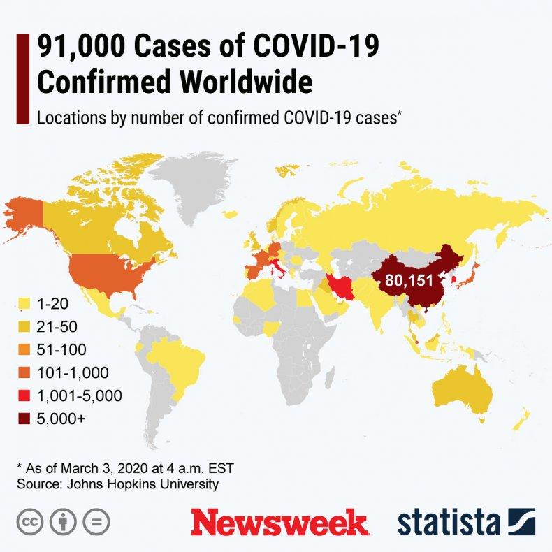 coronavirus, covid-19, cases, map, world
