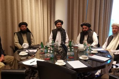 taliban, officials, donald, trump, phone, conversation