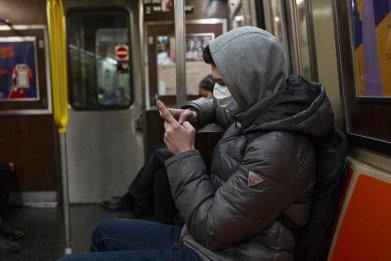 New York City subway mask coronavirus