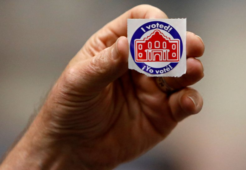 Super Tuesday voting sticker