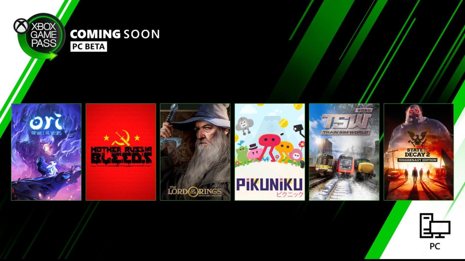 Pc Xbox game pass