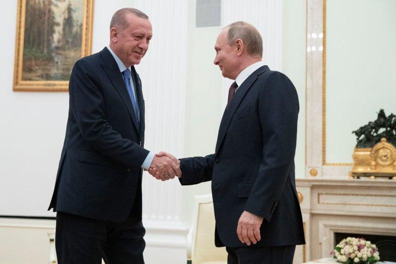 vladimir, putin, recep, tayyip, erdogan, talks, syria