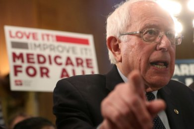 Bernie Sanders with Medicare for all