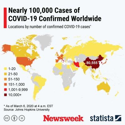 statista, covid19, coronavirus, worldwide cases,