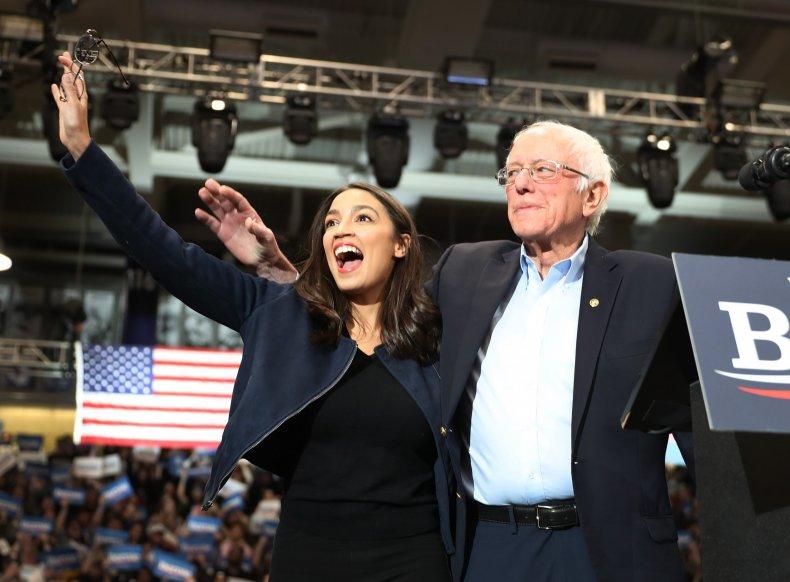 Alexandria Ocasio-Cortez Bernie Sanders 2020 Joe Biden