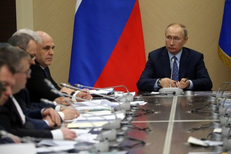 Putin at meeting with ministers