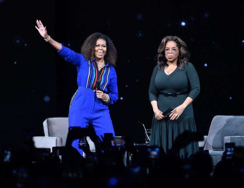 Getty Michelle Obama Oprah