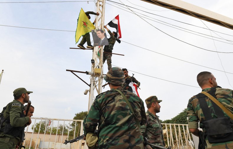 syria, government, troops, kurds, flags, peace