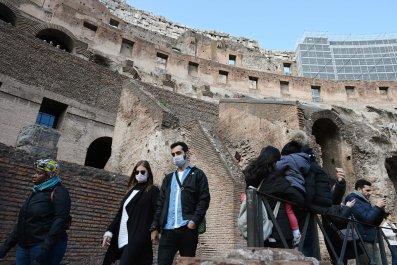 coronavirus, covid19, italy, rome, Coliseum , getty