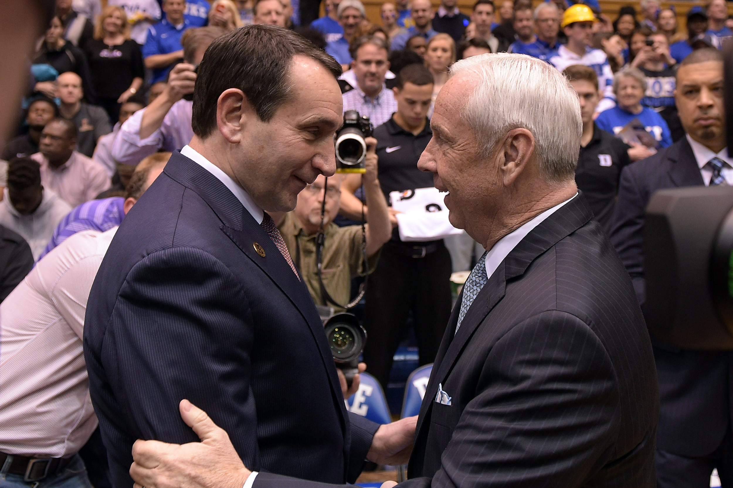 college basketball coaches mike krzyzewski and roy