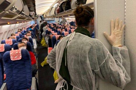 airplane passengers coronavirus travel warning