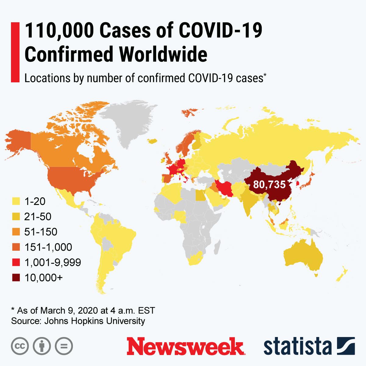 Coronavirus Update, Map As Death Toll Hits 3,800, Oil