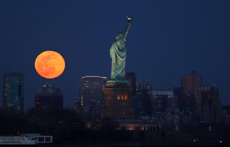 Supermoon, New York City