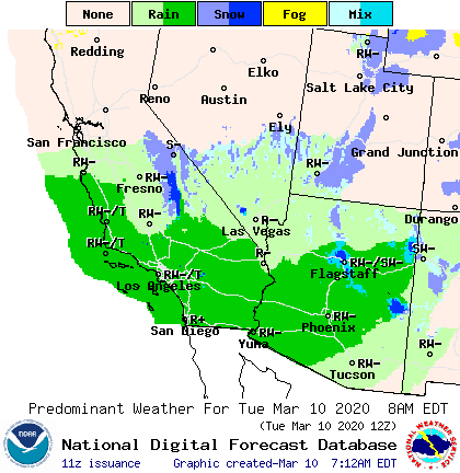 NOAA LA Local Forecast Rainfall