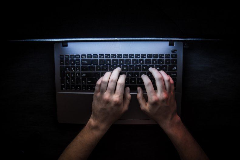 File photo: Typing on laptop