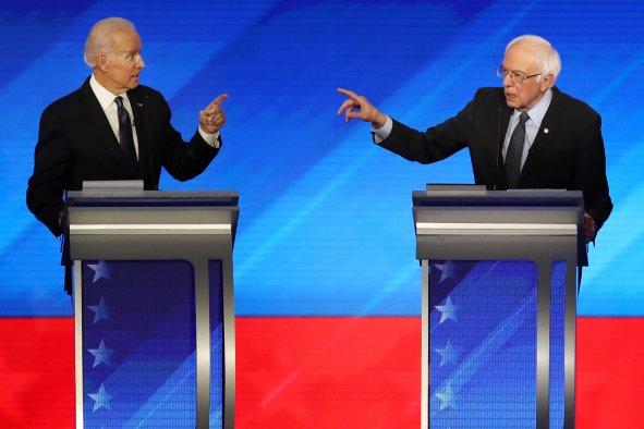 Joe Biden and Bernie Sanders