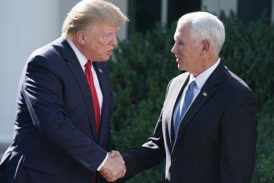 Trump Pence handshake