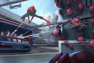 avengers campus disneyland web slingers