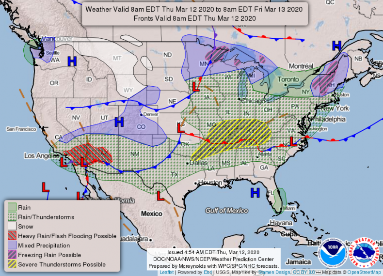 NOAA National Forecast March 12 2020