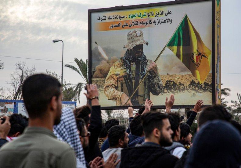 iraq, kataib, hezbollah, brigades, militia, protest