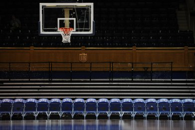 Empty Basketball Arena