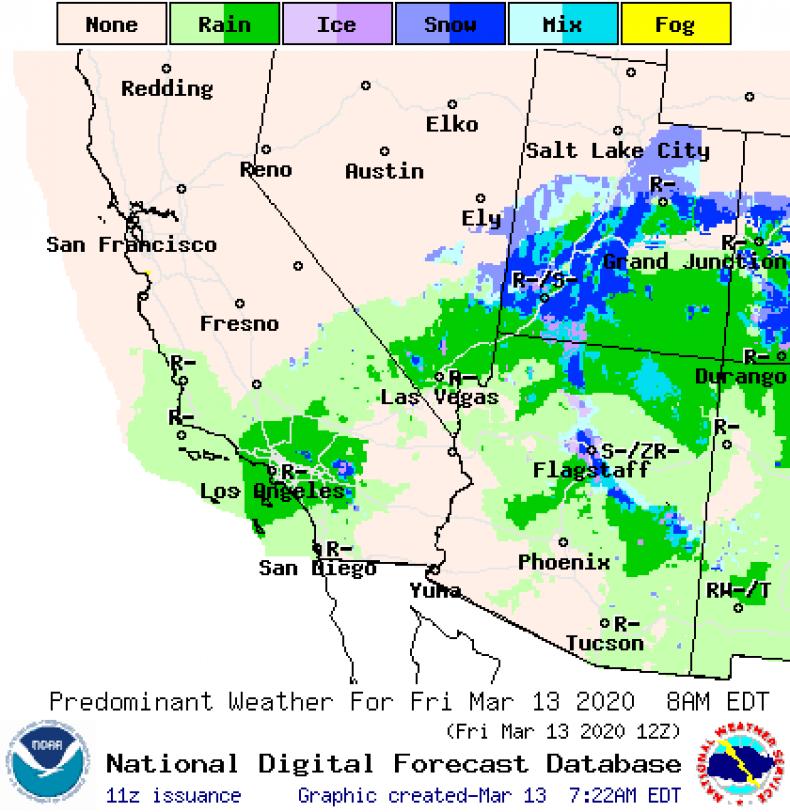 NOAA PHX AZ Weekend Forecast 031320