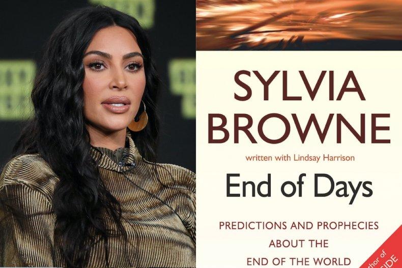 KIm Kardashian and Sylvia Browne book