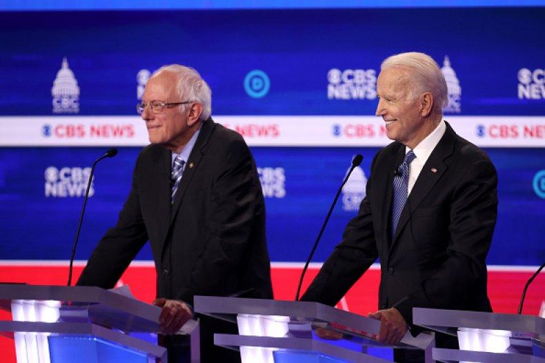 biden sanders face off democratic debate