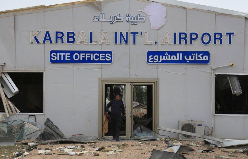 karbala, airport, us, airstrikes, attack, iraq