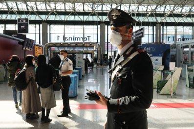 Rome airport Italy March 2020 coronavirus