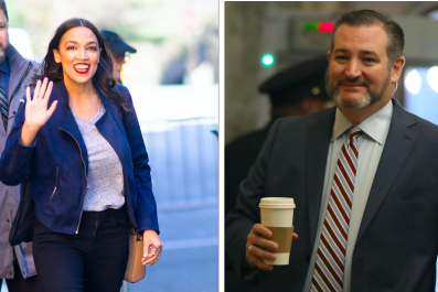 Alexandria Ocasio-Cortez and Ted Cruz