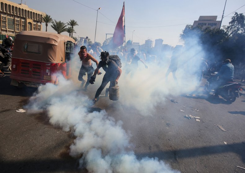 Iraq protests gas