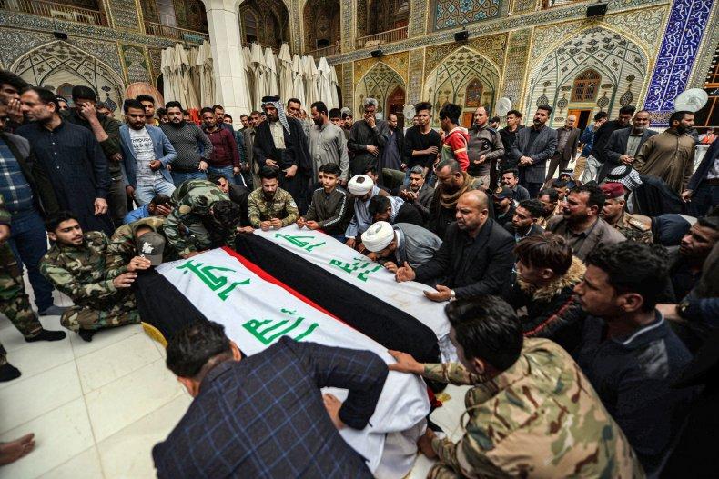 iraq, funeral, us, airstrikes, dead