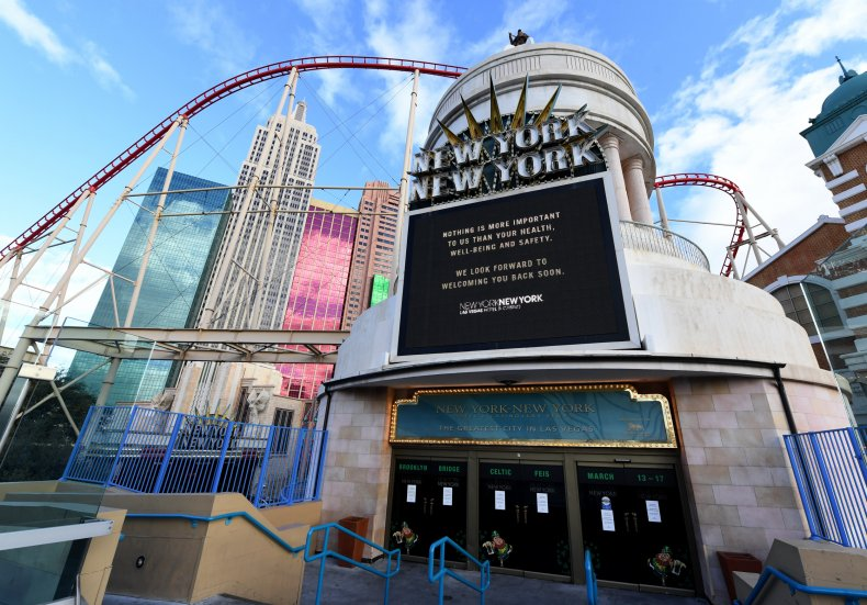 Las Vegas, Nevada, March 17, 2020 coronavirus