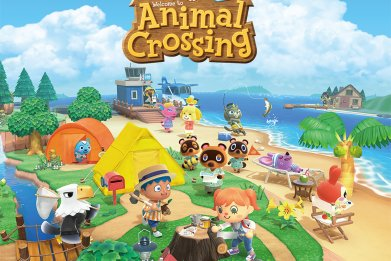 animal crossing new horizons logo box art