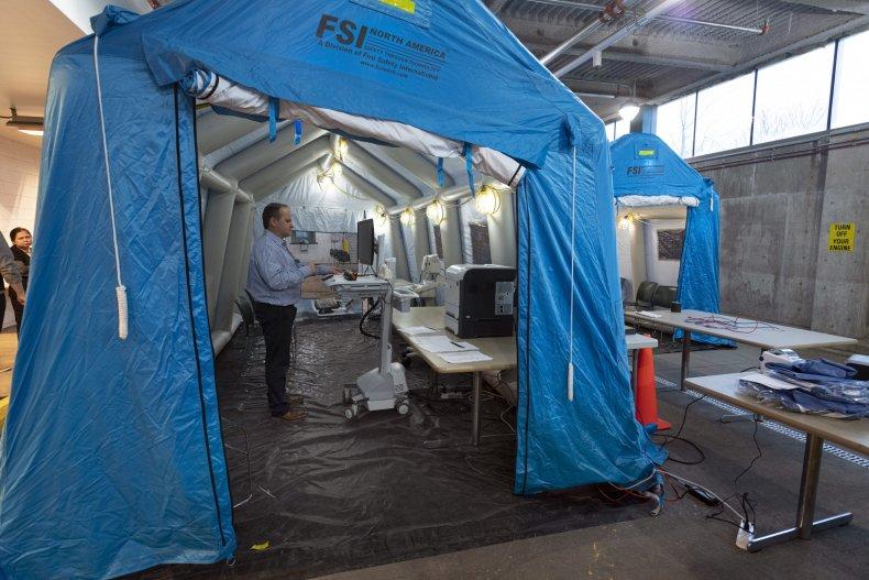 coronavirus surge capacity rush medical center