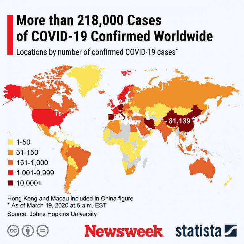 coronavirus, covid-19, map, countries, world
