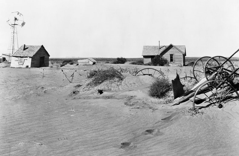 Abandoned Farms During the Dust Bowl