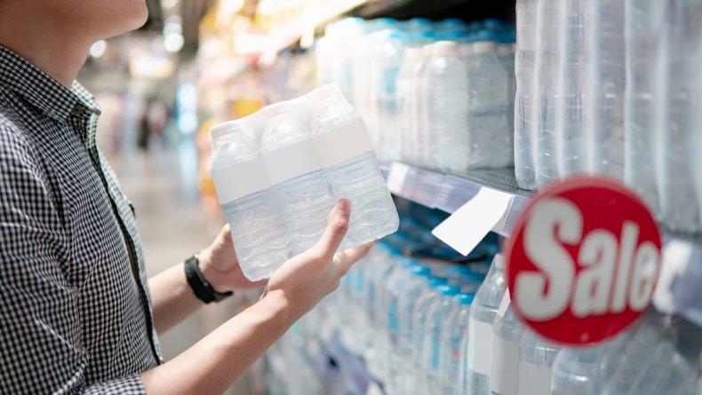 bottled water aisle